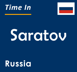Current time in Saratov, Russia