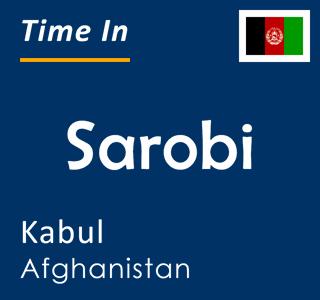 Current time in Sarobi, Kabul, Afghanistan