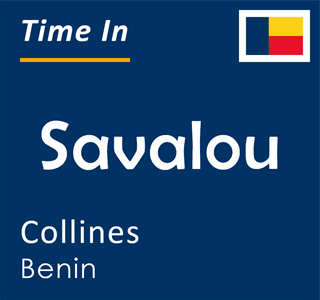Current time in Savalou, Collines, Benin