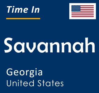 Current time in Savannah, Georgia, United States