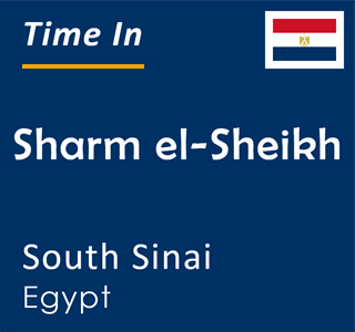 Current time in Sharm el-Sheikh, South Sinai, Egypt