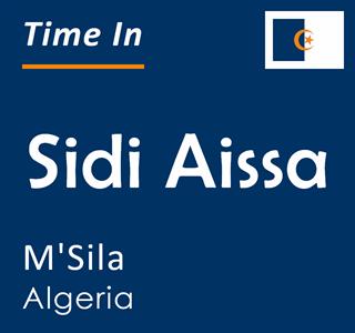 Current time in Sidi Aissa, M'Sila, Algeria