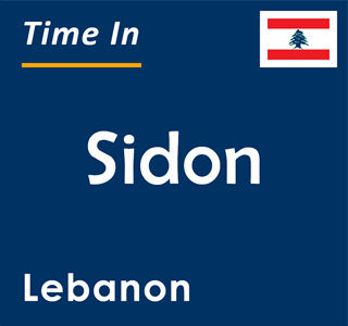 Current time in Sidon, Lebanon