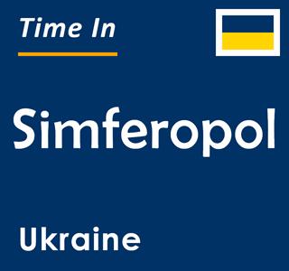Current time in Simferopol, Ukraine