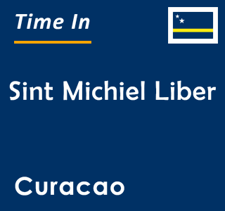 Current time in Sint Michiel Liber, Curacao