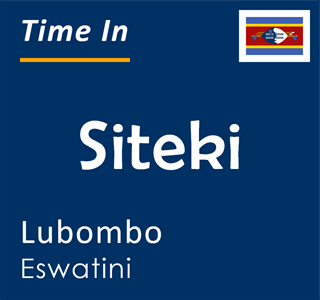 Current time in Siteki, Lubombo, Eswatini