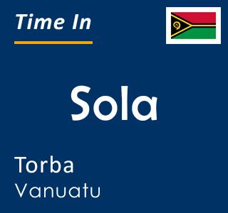 Current time in Sola, Torba, Vanuatu