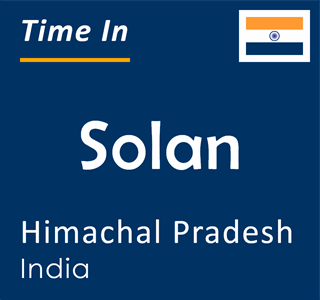 Current time in Solan, Himachal Pradesh, India