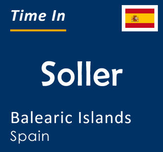 Current time in Soller, Balearic Islands, Spain