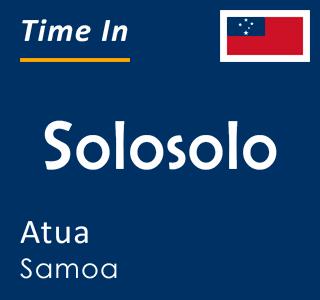 Current time in Solosolo, Atua, Samoa