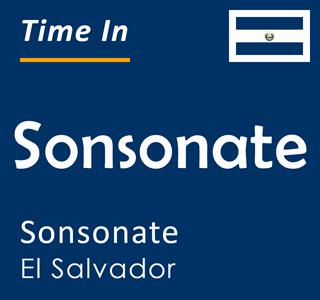 Current time in Sonsonate, Sonsonate, El Salvador