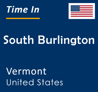 Current time in South Burlington, Vermont, United States