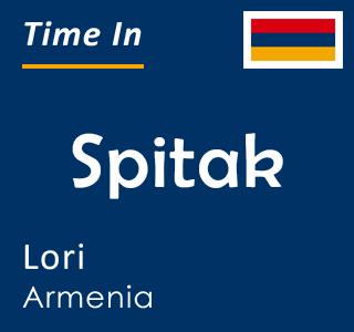 Current time in Spitak, Lori, Armenia