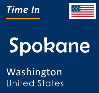 Current time in Spokane, Washington, United States