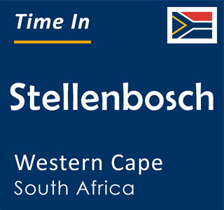 Current time in Stellenbosch, Western Cape, South Africa