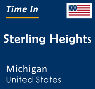 Current time in Sterling Heights, Michigan, United States