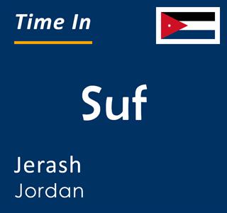 Current time in Suf, Jerash, Jordan