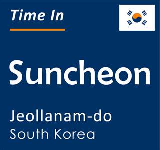 Current time in Suncheon, Jeollanam-do, South Korea