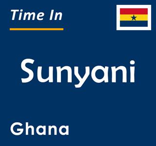 Current time in Sunyani, Ghana