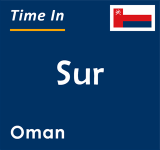 Current time in Sur, Oman
