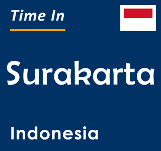 Current time in Surakarta, Indonesia