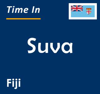 Current time in Suva, Fiji