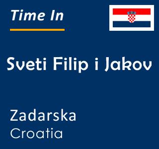 Current time in Sveti Filip i Jakov, Zadarska, Croatia