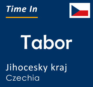 Current time in Tabor, Jihocesky kraj, Czechia