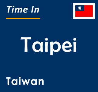 Current time in Taipei, Taiwan