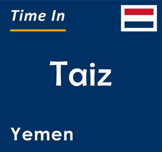 Current time in Taiz, Yemen