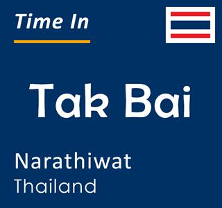 Current time in Tak Bai, Narathiwat, Thailand