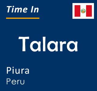Current time in Talara, Piura, Peru
