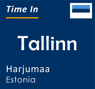 Current time in Tallinn, Harjumaa, Estonia
