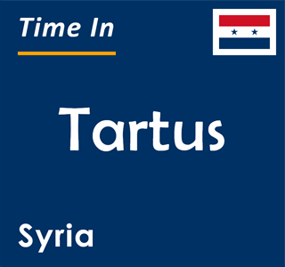 Current time in Tartus, Syria