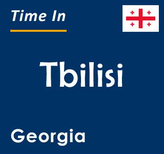 Current time in Tbilisi, Georgia