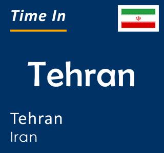 Current time in Tehran, Tehran, Iran