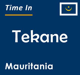 Current time in Tekane, Mauritania