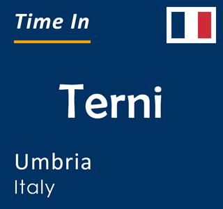 Current time in Terni, Umbria, Italy