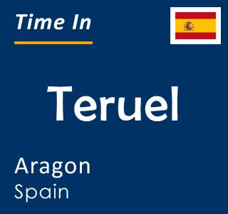 Current time in Teruel, Aragon, Spain