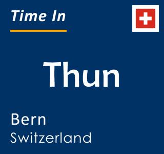 Current time in Thun, Bern, Switzerland