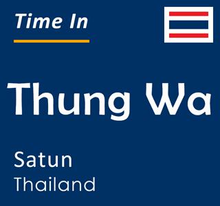 Current time in Thung Wa, Satun, Thailand