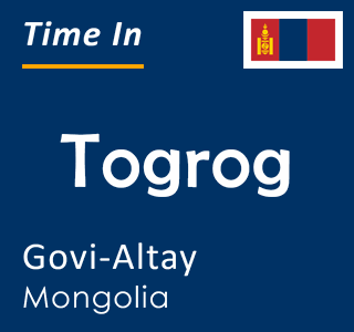 Current time in Togrog, Govi-Altay, Mongolia