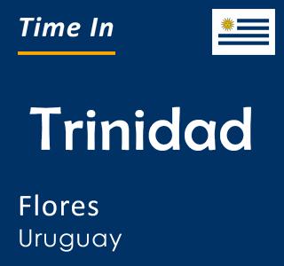 Current time in Trinidad, Flores, Uruguay