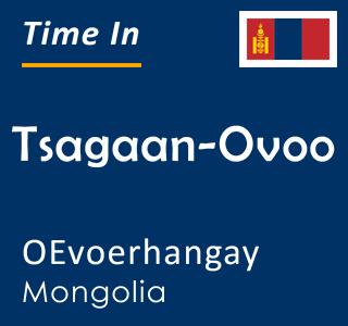Current time in Tsagaan-Ovoo, OEvoerhangay, Mongolia