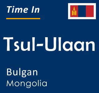 Current time in Tsul-Ulaan, Bulgan, Mongolia