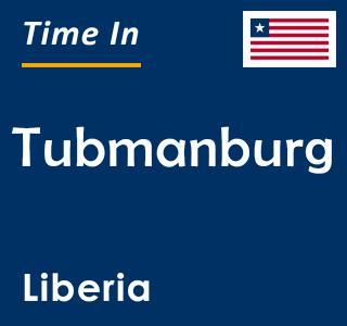 Current time in Tubmanburg, Liberia