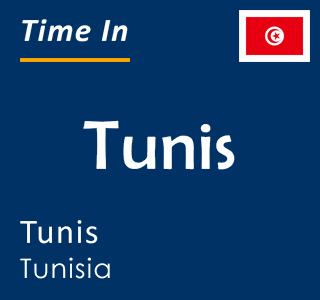 Current time in Tunis, Tunis, Tunisia