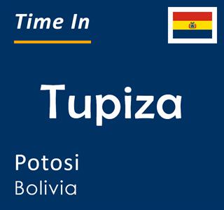 Current time in Tupiza, Potosi, Bolivia