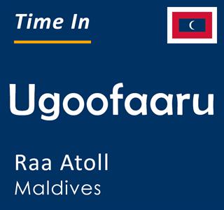Current time in Ugoofaaru, Raa Atoll, Maldives