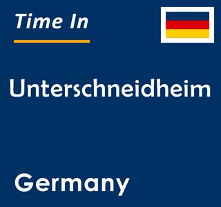 Current time in Unterschneidheim, Germany